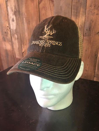 Faded Black Trucker Logo Hat